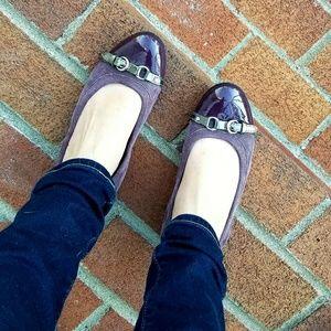 AGL Purple Cap Toe Ballet Flats